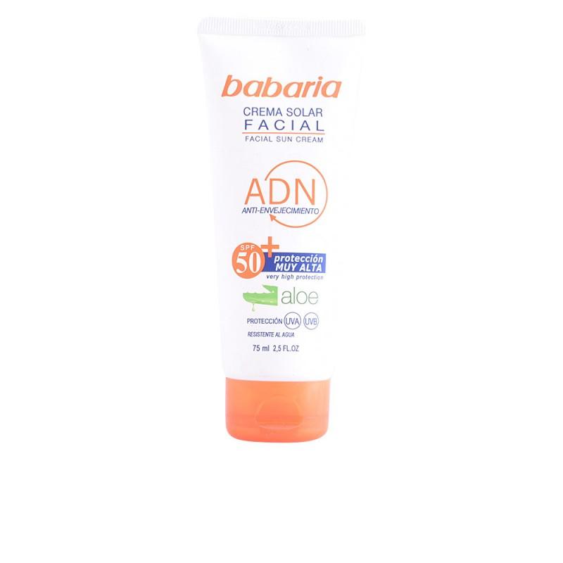 SOLAR ADN crema solar facial aloe vera SPF50  75 ml