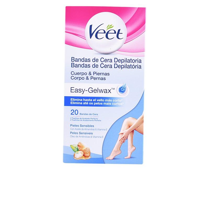 BANDAS DE CERA depilatorias corporales piel seca 20 uds