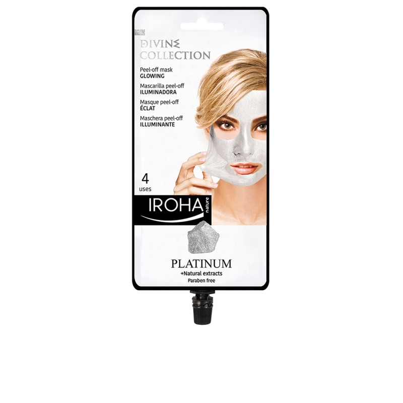 PLATINUM peel-off glowing mask 4 uses