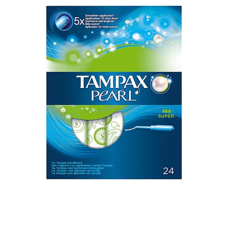 TAMPAX PEARL tampón super 24 uds